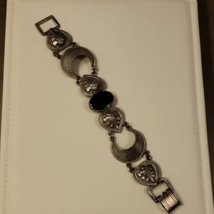 Silver Tone Vintage Express Bracelet 80's